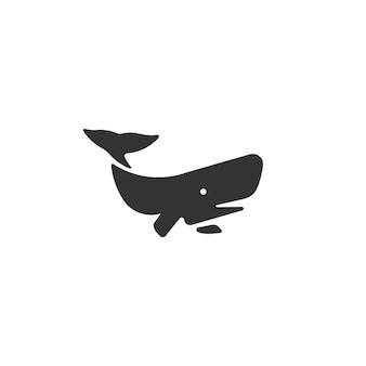 Wielki wieloryb logo wektor