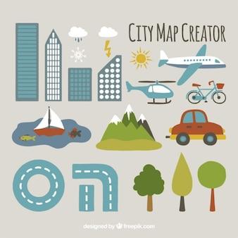 Wielkie elementy, aby stworzyć miasto