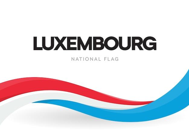 Wielkie Księstwo Luksemburga Macha Flagą Premium Wektorów