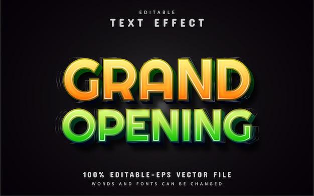 Wielkie otwarcie efektów tekstowych