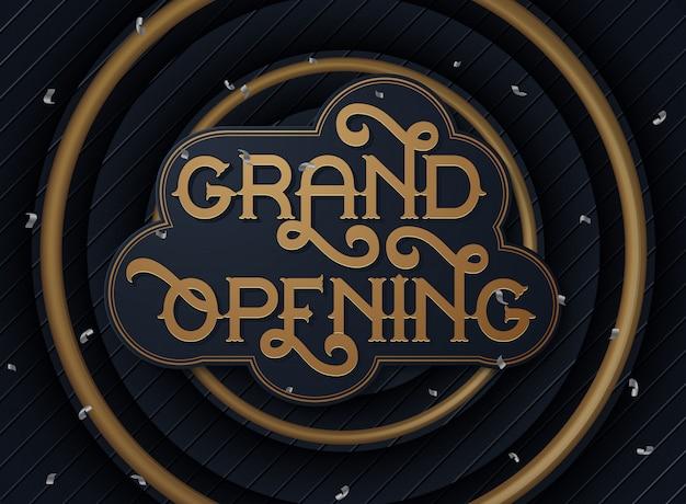Wielkie otwarcie ulotka lub karta zaproszenie
