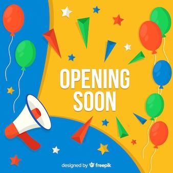 Wielkie otwarcie wkrótce, projekt ogłoszenia