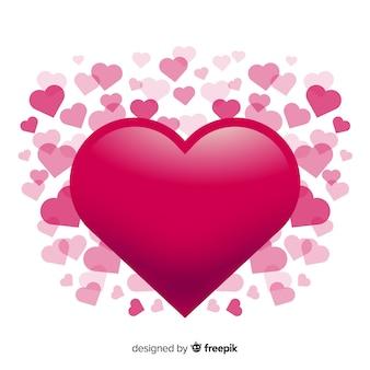 Wielkie Serce Tło Darmowych Wektorów