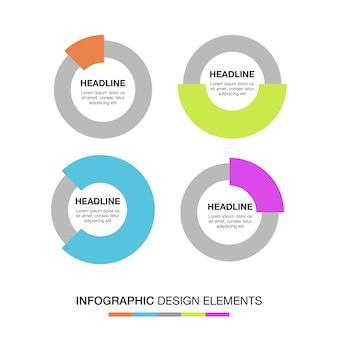 Wielobarwne kręgi infograficzne