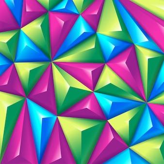 Wielobarwny trójkątne tło wolumetryczne.