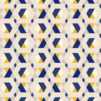 Wielobarwny wzór sześciokątne 3d tła