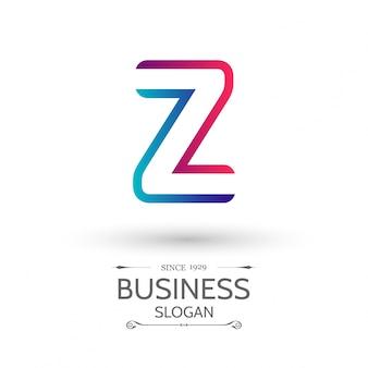 Wielobarwny z list logo projektowanie logo alfabetu