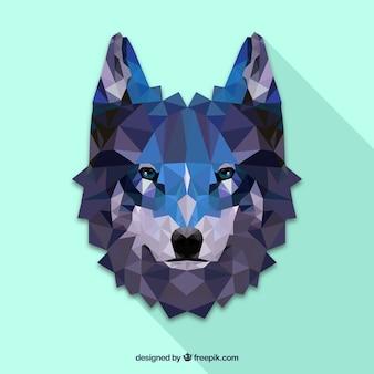 Wieloboczna twarz wilka