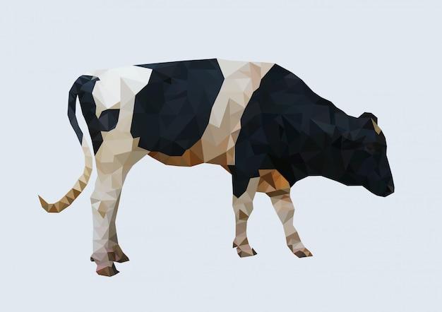 Wieloboczne krowy, wielokątne geometryczne zwierzę