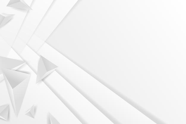Wieloboczne kształty białe tło w stylu 3d papieru