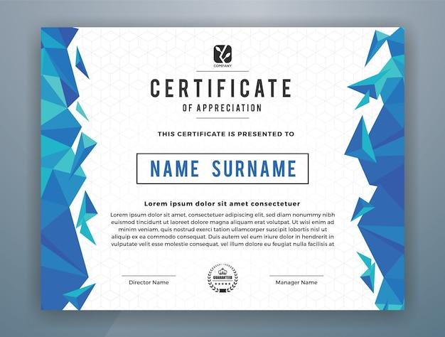 Wielofunkcyjny nowoczesny profesjonalny szablon certyfikatu do druku. ilustracji wektorowych