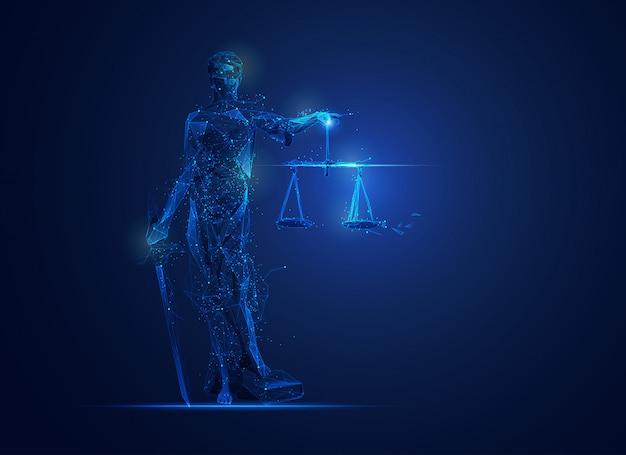 Wielokąt temida lub bogini sprawiedliwości