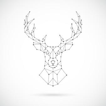 Wielokątna sylwetka jelenia