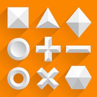 Wielokątne kształty wektor biały. ilustracja wektorowa sztuki