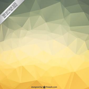 Wielokątne tło w kolorze żółtym dźwięków