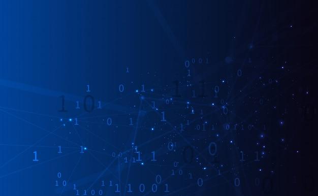 Wielokątne tło z połączonymi liniami i kropkami tworzącymi okrąg na cyfrowej prezentacji tablicy wizualizacji big data