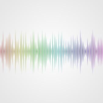Wielokolorowa fala dźwiękowa z korektora