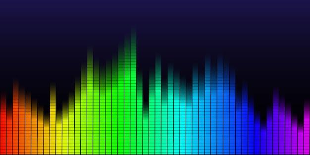 Wielokolorowa fala dźwiękowa z tła korektora