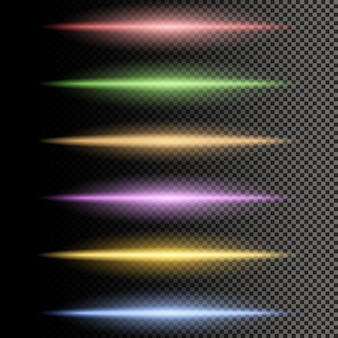 Wielokolorowe świecące linie separatora światła