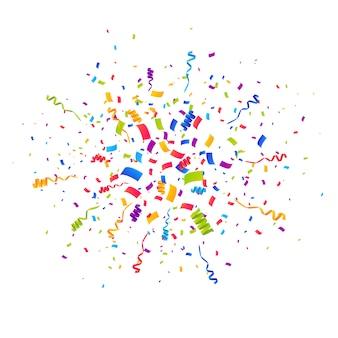 Wielokolorowe tło wybuch konfetti