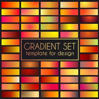Wielokolorowy jasny zestaw gradientu.