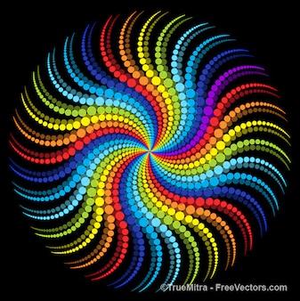 Wielokolorowy wzór okrągłym tle dotts