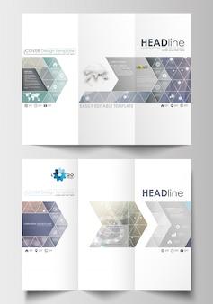 Wielokrotne broszurowe szablony biznesowe po obu stronach.