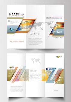 Wielokrotne broszurowe szablony biznesowe po obu stronach