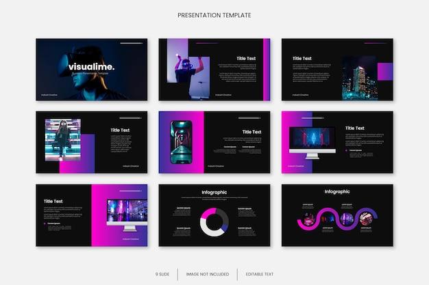 Wielozadaniowy szablon prezentacji slajdu biznesowego z grami kreatywnymi