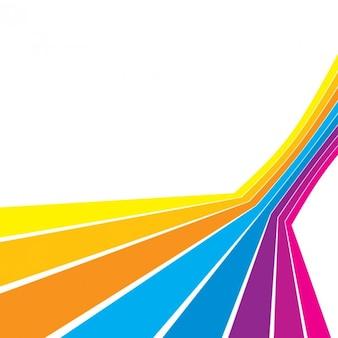 Wielu kolorowych linii z prostymi liniami na białym tle