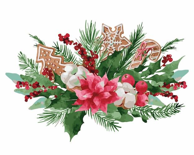 Wieniec bożonarodzeniowy ze świerkiem