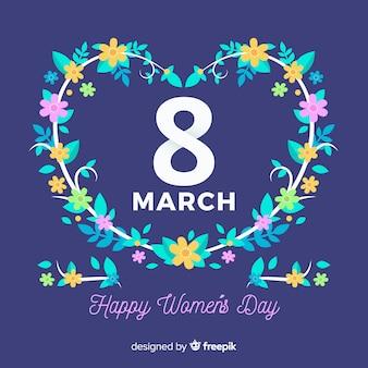 Wieniec kwiatowy kobiet dzień tło