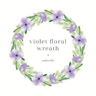 Wieniec kwiatowy pastelowy fiołek