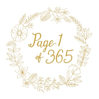 Wieniec nowy rok ilustracja typografia