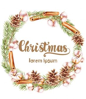 Wieniec świąteczny z ozdobami