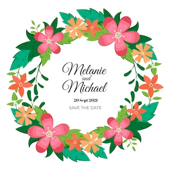 Wieniec weselny kwiatowy