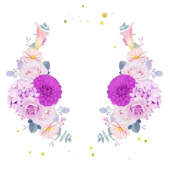 Wieniec z fioletowych kwiatów