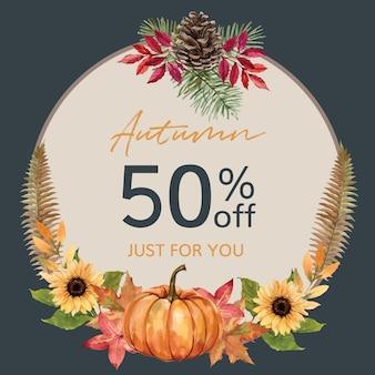 Wieniec z motywem jesiennym