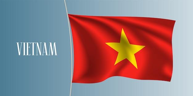 Wietnam macha flagą ilustracja