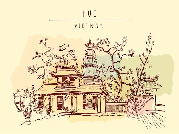 Wietnam wzór tła