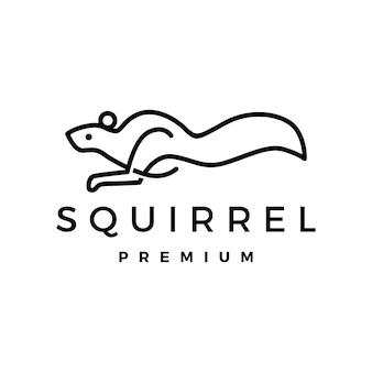 Wiewiórka ikona ilustracja logo