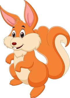 Wiewiórka kreskówka stwarzających z uśmiechem