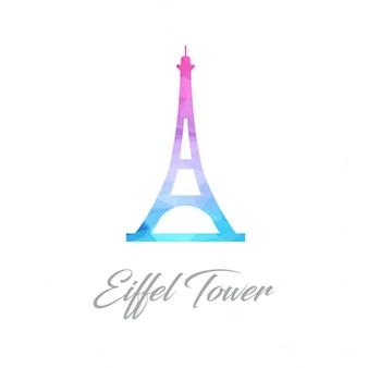 Wieża eiffla polygon