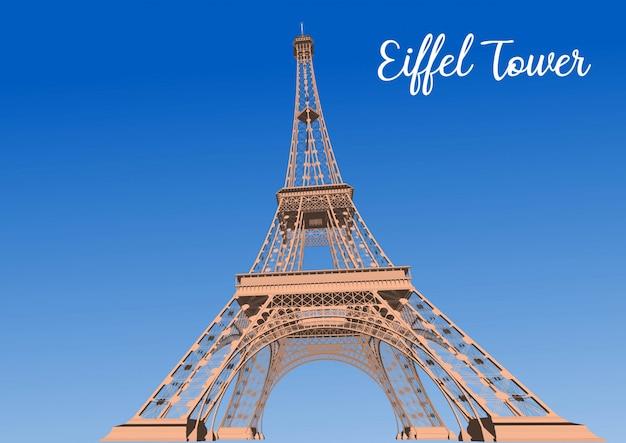 Wieża eiffla we francji 3d