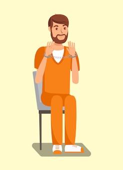 Więzień z kajdankami