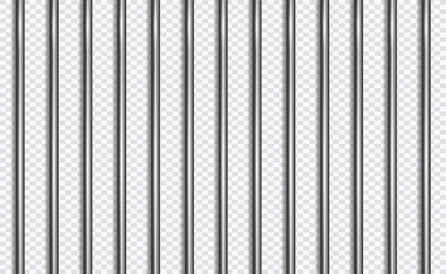 Więzienie kraty lub paski w stylu 3d