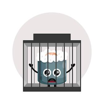 Więzienne sushi słodkie logo postaci