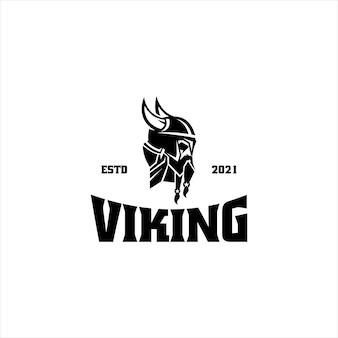 Wiking skandynawski silny szablon logo
