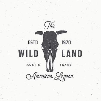 Wild land streszczenie znak, symbol lub szablon logo.
