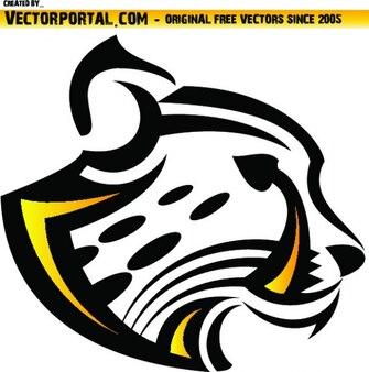 Wild szef leopard ilustracji wektorowych